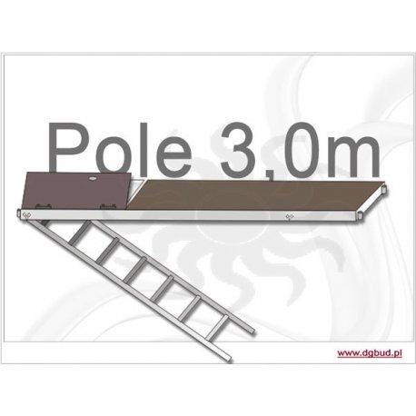 Podest komunikacyjny aluminiowo-sklejkowy do systemu pletac